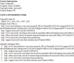 Microsoft beantragt Löschung der eigenen Seiten